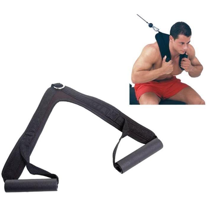 CEINTURE DE FORCEGrofitness abdominaux Crunch Sangles abdominaux Ceinture deacutepaule en Nylon Home Gym Barbell Sangle172