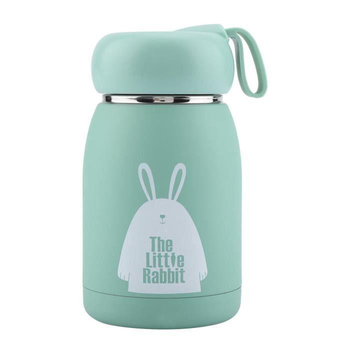 AYNEFY bouteille d'eau isolée sous vide Bouteille d'eau de tasse de thermos de tasse de tasse de tasse de vide de modèle de lapin