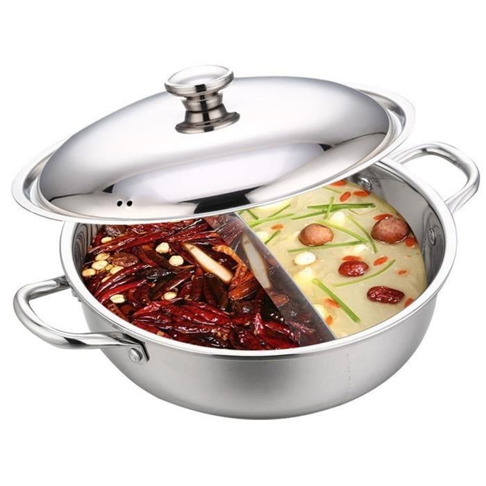Marmites et soupières,Haute qualité s type marmite cuisinière cuisinière à gaz Compatible cuisine soupe marmite en acier - Type 1