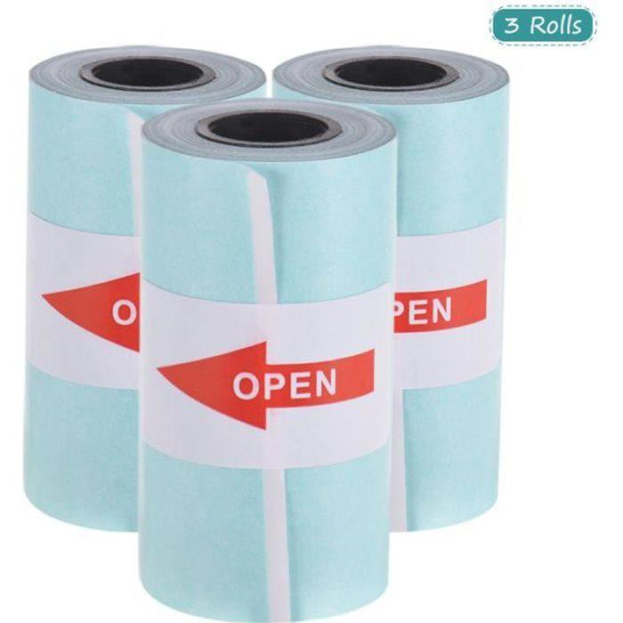 Rouleau de papier thermique imprimable auto-adhésif 57*30mm pour imprimante thermique de poche PeriPage A6/PAPERANG P1 / P2