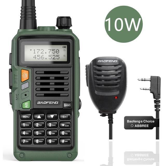 10W-mic walkie-talkie Portable UV-S9 PLUS 10W, Radio bidirectionnelle haute puissance, longue portée de 50km, VHF/UHF, CB Ham, pour