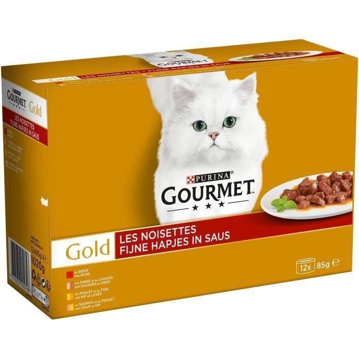 GOURMET Gold Les noisettes - Boîtes - Pour chat adulte - 24 x 85 g