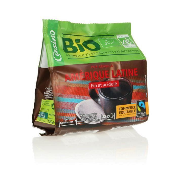 Café Bio Amérique Latine - 18 dosettes - 125 g