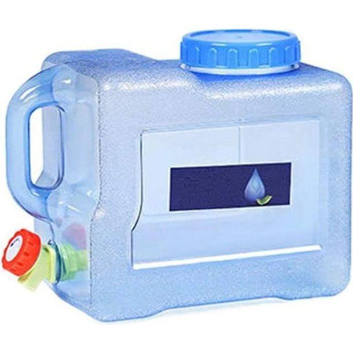Bidon d'eau Portable avec Robinet et Bec verseur pour Voiture, extérieur, Camping, 5/8/15 L, 8 l