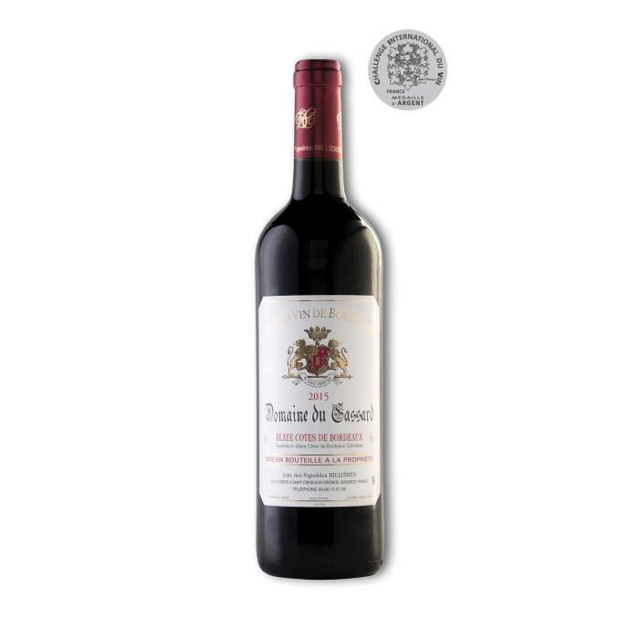 Vin Rouge Blaye Côtes de Bordeaux Domaine du Cassard - Cuvée Tradition- Médaille d'Argent au Challenge International du Vin