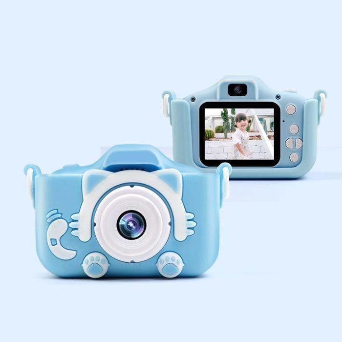 AVANC Appareil Photo Numérique HD pour Enfants - Enregistreur vidéo Dual Lens X5S 2000W Noël Cadeau Jouet Bleu