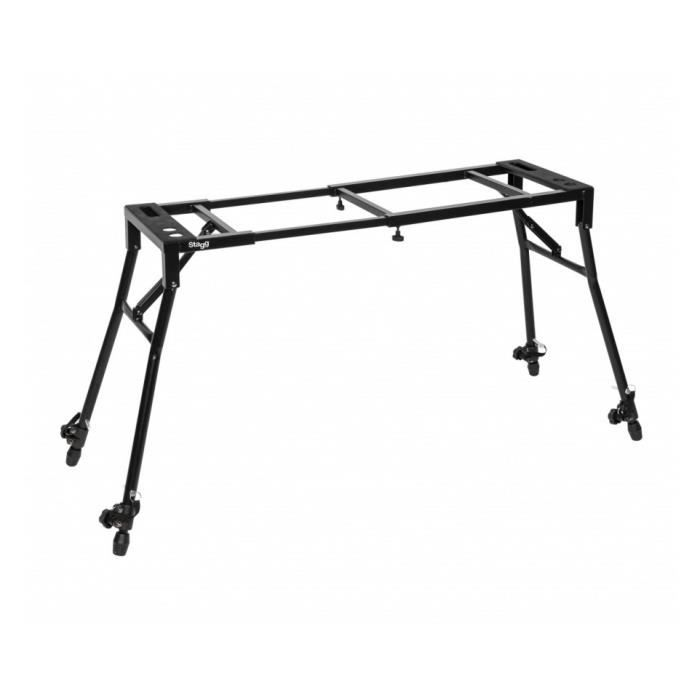 Stagg MXS-A1 PLUS - Stand réglable - table de mixage ou clavier, avec pieds inclinés