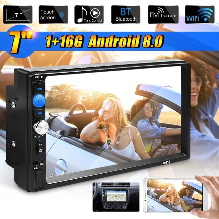 TEMPSA 7'' 2 DIN HD Android système Autoradio 1024 Tactile GPS Bluetooth WIFI MP5 Universel