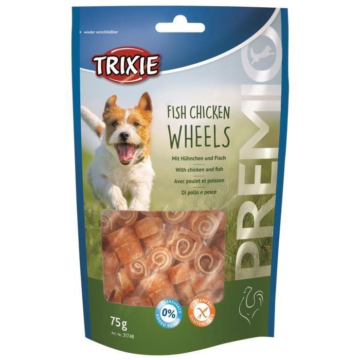 TRIXIE PREMIO Wheels aux poulet et poisson - 75 g - Pour chien