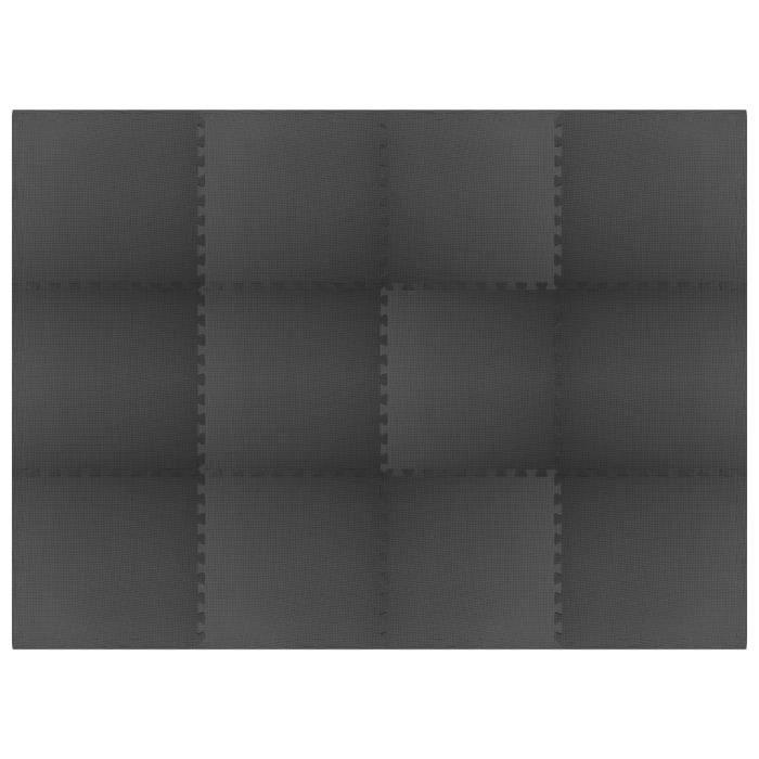vidaXL Tapis de sol 12 pcs 4,32㎡ Mousse EVA Noir