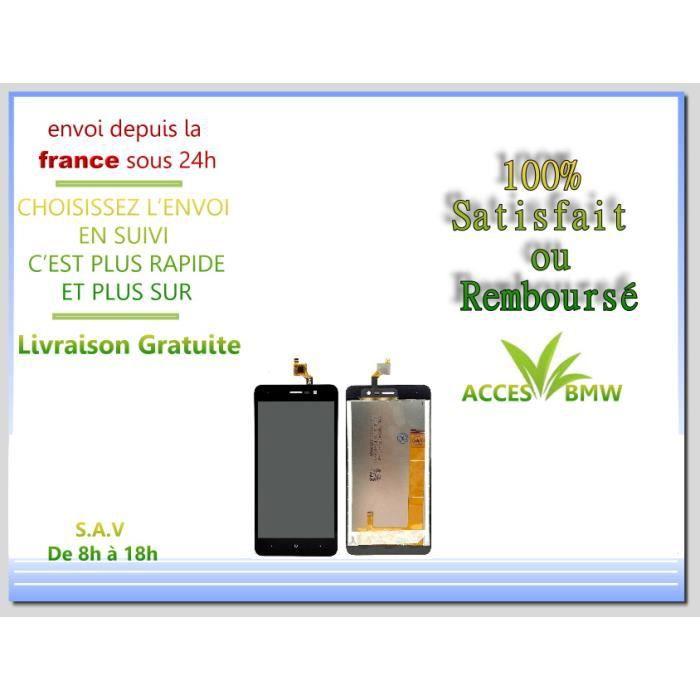Ecran LCD + Vitre Tactile Wiko Pour Lenny 4 - Noir