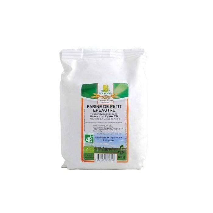 MOULIN DES MOINES Farine de petit épeautre bio - Blanche Type 70 - 500 g
