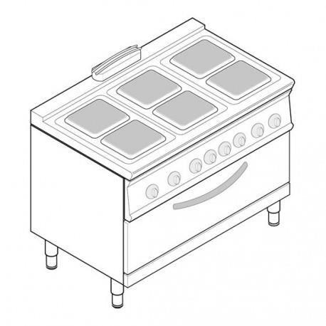 CUISINIÈRE - PIANO Piano de cuisson électrique sur four électrique ve
