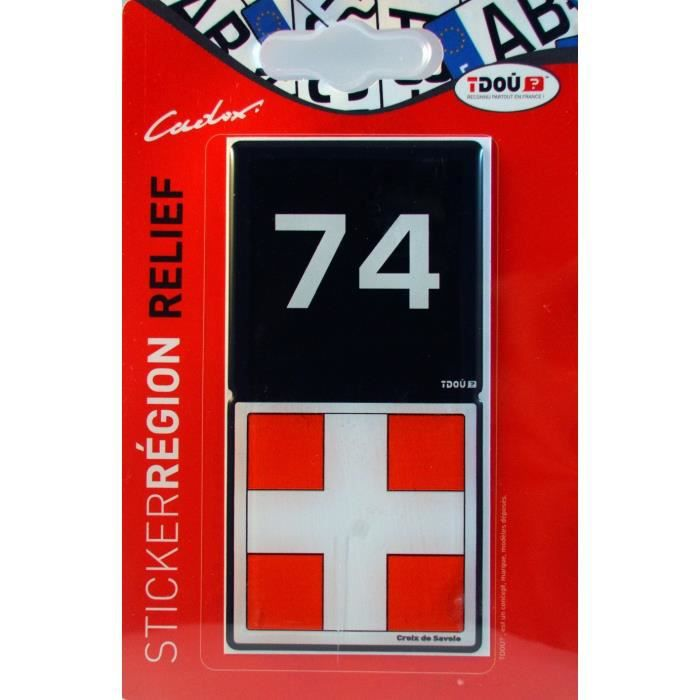 2 Immatriculation 74 Haute Savoie Annecy Departement Autocollant Sticker Discounts Price Automobilia