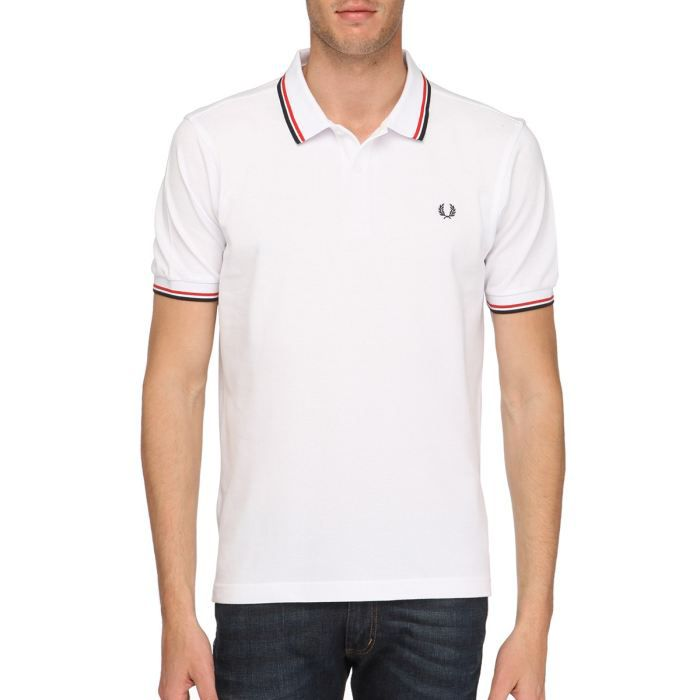 FRED PERRY Polo Homme Blanc - Achat / Vente