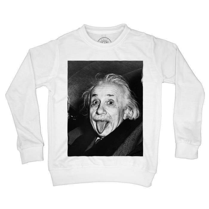 Cartoon Einstein Imprimé Crew Col Short Sleeve T-Shirts