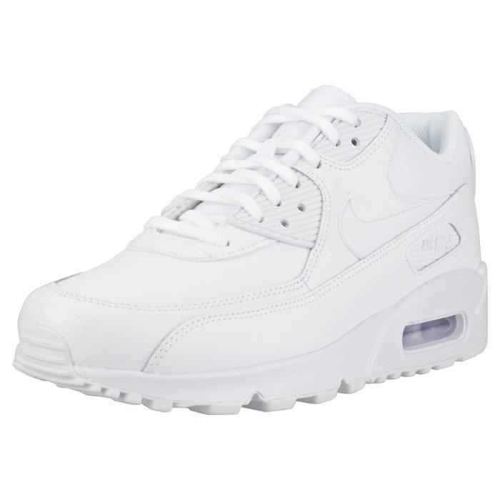 Nike Air Max 90 Femme Baskets Blanc Blanc - Cdiscount Chaussures