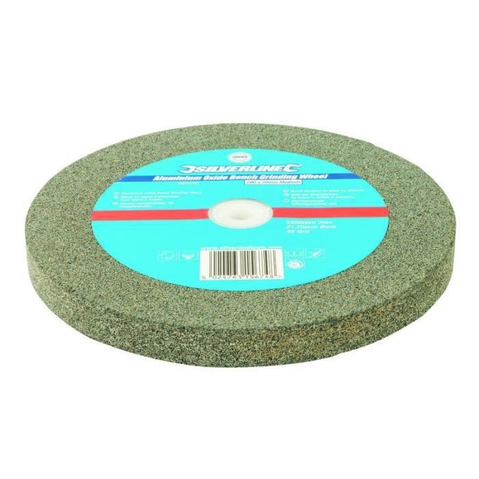 Meule en oxyde d/'aluminium pour touret à meuler 200 x 20 mm Grain fin