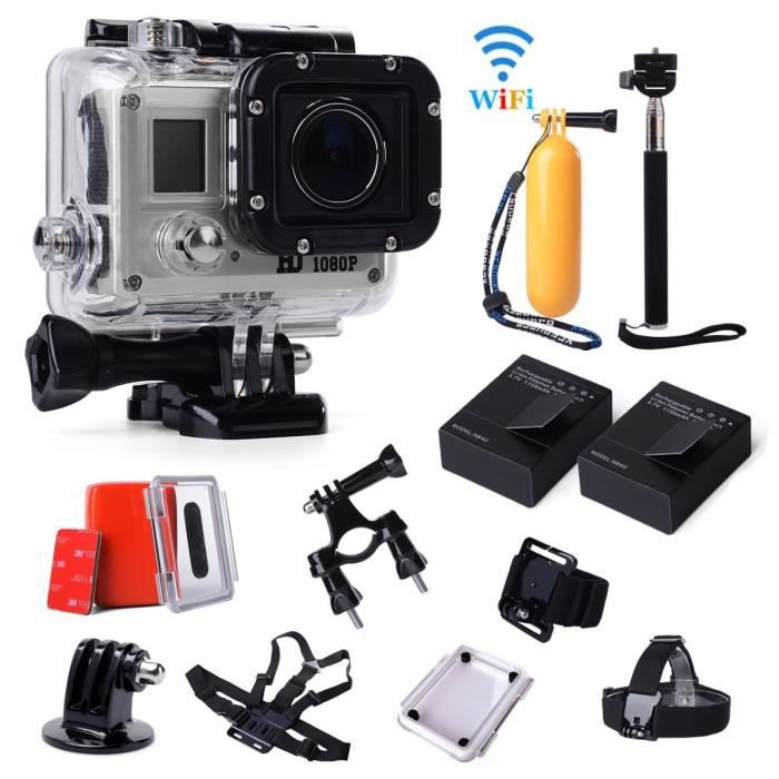 action sport cam accessoires set pour gopro achat vente pack camera sport cdiscount. Black Bedroom Furniture Sets. Home Design Ideas