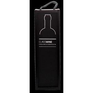 TIRE-BOUCHON Caisse bois noire - Pour 1 bouteille format Bordea