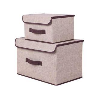 HOUSSE DE RANGEMENT Boîte de Rangement Tissu (Lot de 2) Sac à Linge St