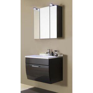 Meuble De Salle De Bain Simple Vasque Avec Miroir Et Etagere