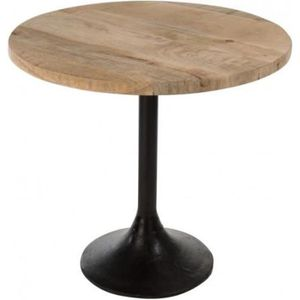 Table ronde pied central achat vente pas cher for Table ronde bois metal