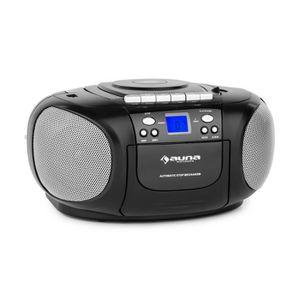 RADIO CD CASSETTE auna BoomBoy Boom Box Ghettoblaster - Radio portab