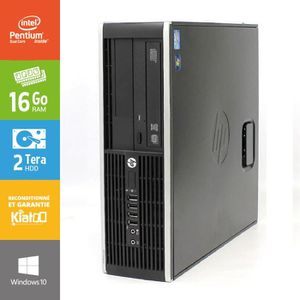 ORDI BUREAU RECONDITIONNÉ Pc bureau hp elite 6200 -intel dual core -16go ram