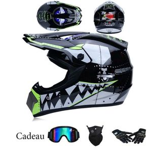 CASQUE MOTO SCOOTER Casque Moto Cross Adult Homme-Femme Casque Protect
