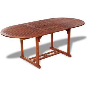 SALON DE JARDIN  vidaXL Table de salle à manger d'extérieur extensi