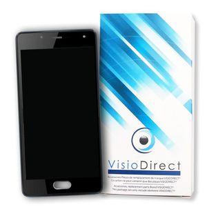 ECRAN DE TÉLÉPHONE Ecran complet pour Wiko U Feel Lite noir vitre tac