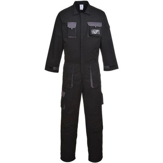 Noir S Combinaison de travail fonctionnelle dhiver chaude avec capuche repliable Portwest