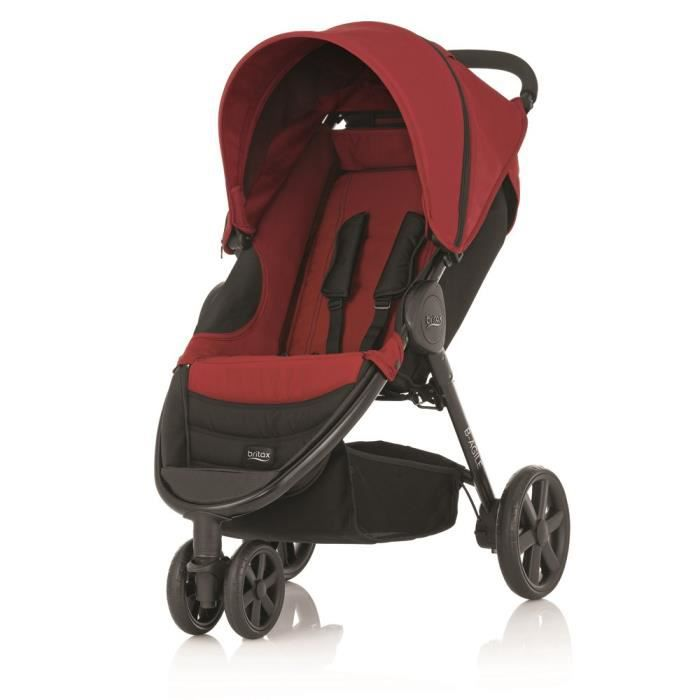 britax poussette citadine b agile 3 chili pepper 3 roues. Black Bedroom Furniture Sets. Home Design Ideas