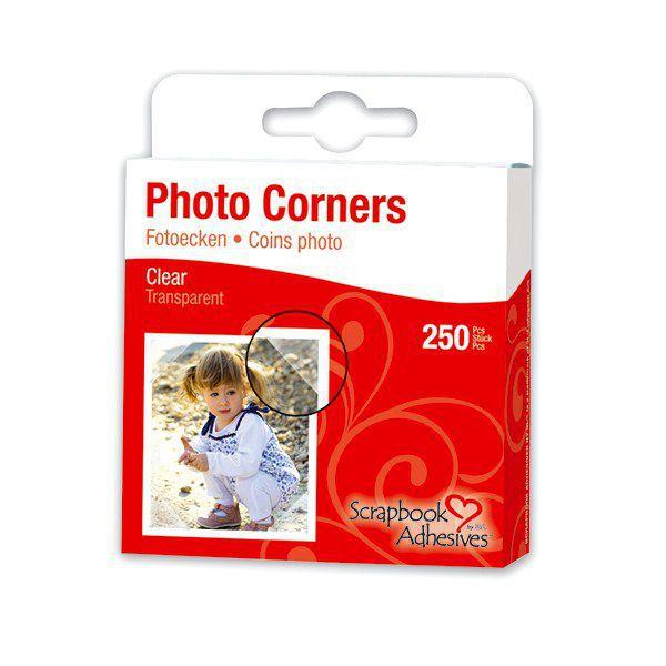 TOGA Scrapbook Adhesives® by 3 L Set de 250 coins photos en plastique transparent autocollant