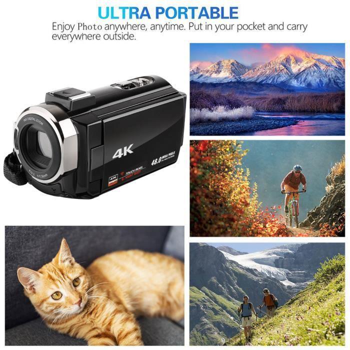 DV22 3 pouces 4K WIFI LCD HD 1920p 48MP 16X Caméscope Zoom numérique DV caméra vidéo @Los22415