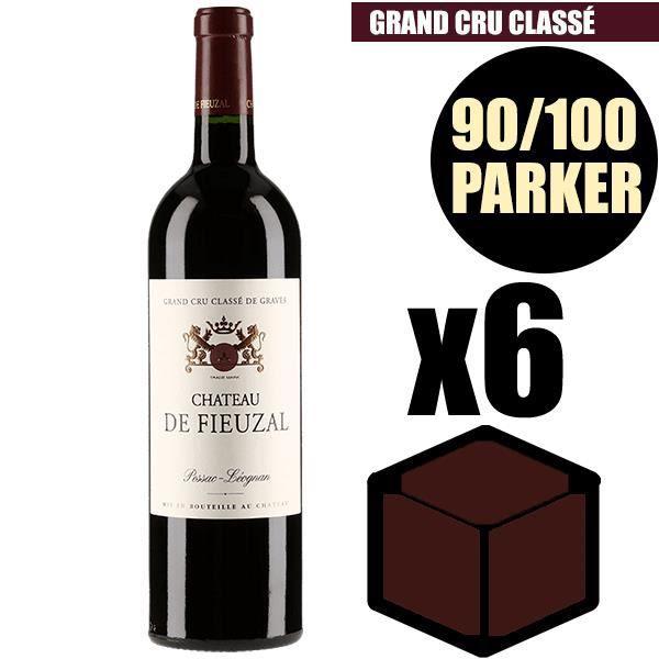 X6 Château Fieuzal 2015 75 cl AOC Pessac-Léognan Rouge Grand Cru Classé Vin Rouge