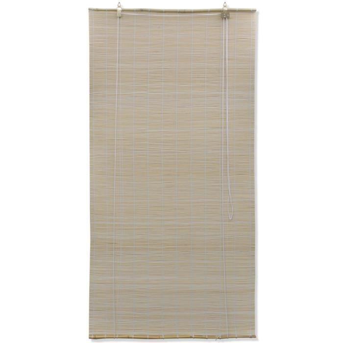 Magnifique Store enrouleur bambou naturel 120 x 220 cm