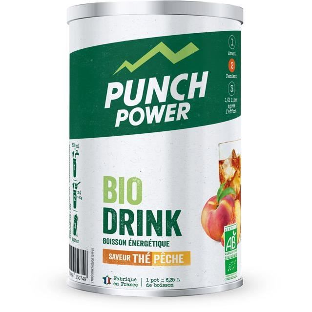 PUNCH POWER Biodrink Thé pêche - Pot 500 g