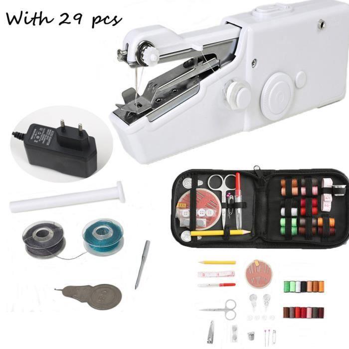 MACHINE A COUDRE,Machine à coudre à la main Mini manuel Portable Assistant ménage sans fil électrique - machine plug thread