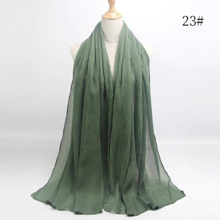 Foulard hijab en coton froissé, écharpe douce, écharpe chaude, écharpe chaude, châle, 25 couleurs, Design hiver, tendanc DY5186