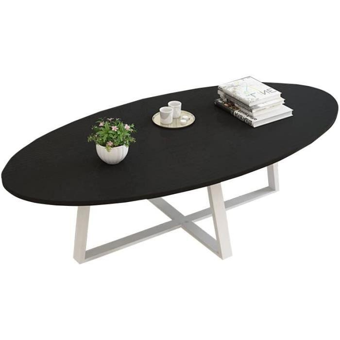 TABLE DE JARDIN MSF Table Pliante Balcon Table Basse, Table &agrave Manger Forme Ovale Panneau en Bois Salon en m&eacutetal Sa101