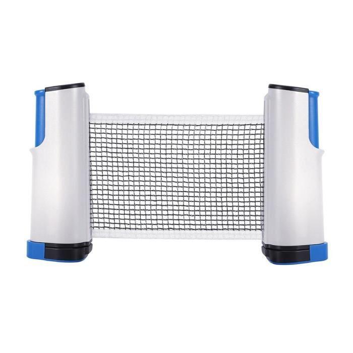 Filet Tennis de Table Rétractable Léger à Transporter Outil de Ping-Pong pour l'Entraînement(gris et bleu)