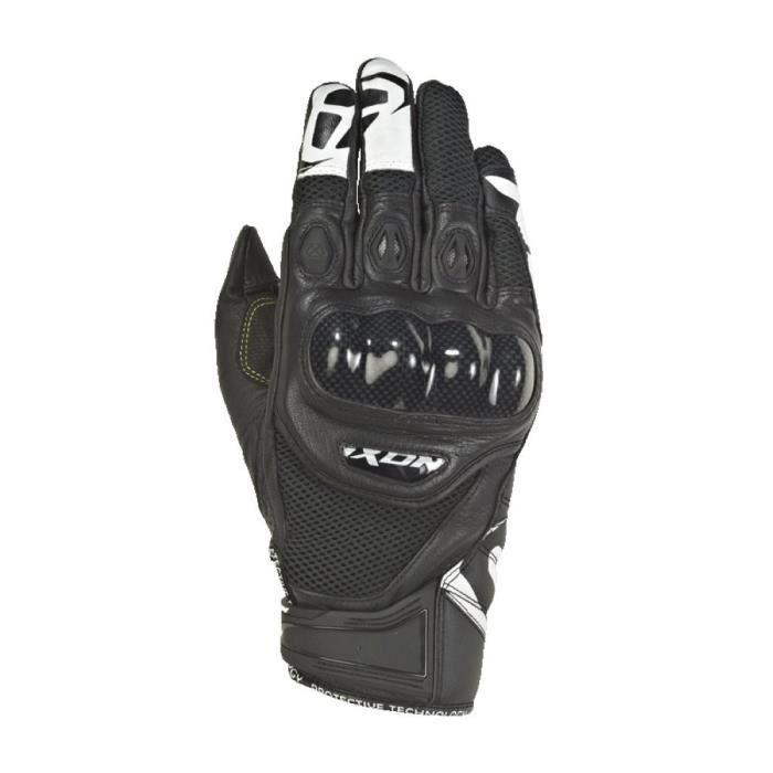 IXON Gants moto RS Recon Air - Noir et Blanc - Taille L