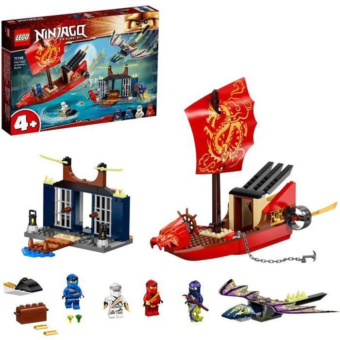 LEGO® 71749 NINJAGO® L'ultime QG des ninjas et Figurine Dragon, Jouet Bateau pour Enfants de 4 ans et plus