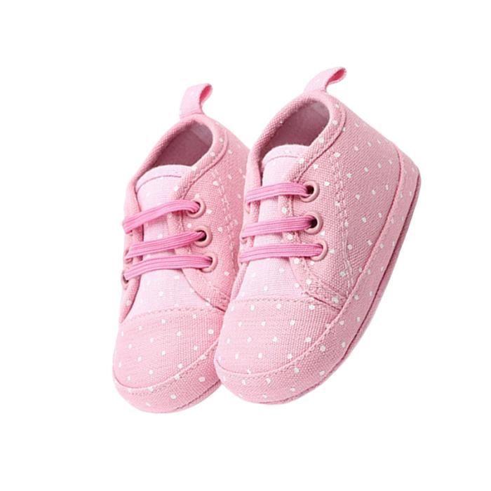 1 paire de chaussures de bébé élastiques de marche antidérapantes semelle souple plancher enfants pour nouveau-né Toldder BASKET