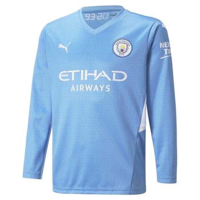 Puma Manchester City Manche Longue Maillot Domicile Football 2021 2022 Enfants