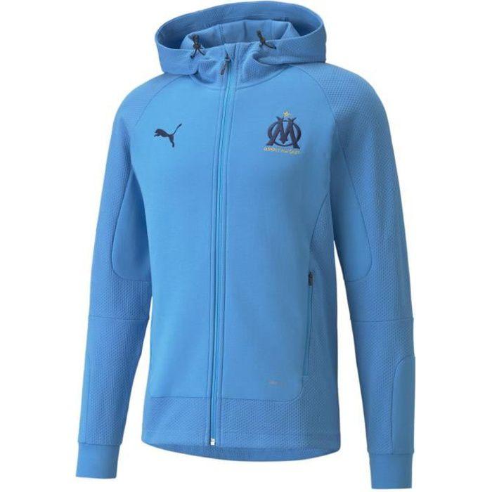 Veste Casuals OM 2021/22 - bleu azur/noir - S