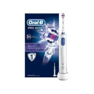 Brosse à dents électrique Oral-B PRO 600 3D Bleue/blanche