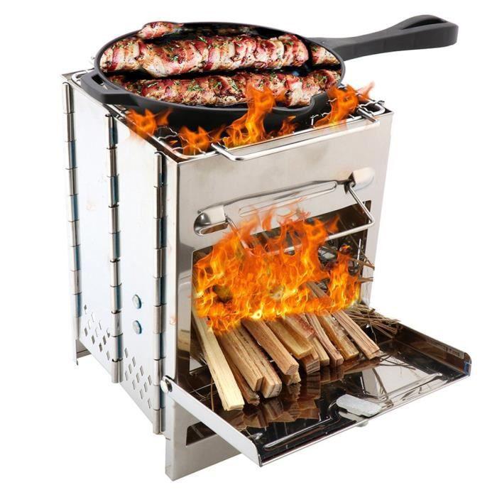 FINEW Huolewa Pliable Panier Grille pour Barbecue Portable en Acier Inoxydable 304 Brosse /à badigeonner Bouteille et Sac de Rangement avec poign/ée Amovible pour Poisson L/égumes Steak de Crevettes